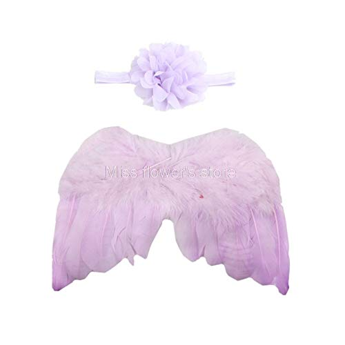Party Diy Decorations - Born Baby Girl Feather Angel Wings Flower Headband Photo Prop Costume Outfit - Party Decorations Party Decorations Wing Angel Large Fashion Miami Birthday Cream -