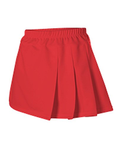 Alleson WOMENS CHEERLEADING THREE PLEAT SKIRT SCARLET L C200 C200-SC-L ()