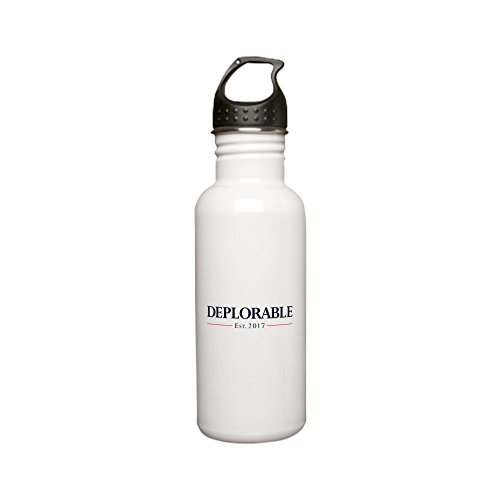 CafePress - Deplorable Est 2017 Stainless Water Bottle 0 - Stainless Steel Water Bottle, 0.6L Sports Bottle ()