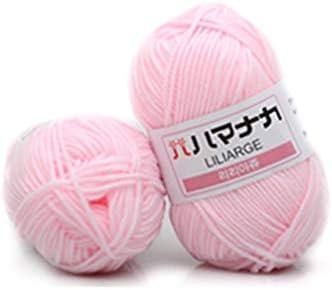 4 Acciones algodón peinado Leche hilo de lana Mezclas de Hilados ...