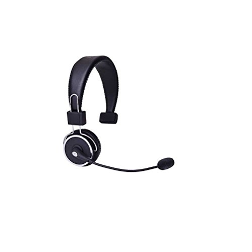 Blue Tiger Elite Premium Wireless Bluetooth Headset No Wires Long Battery Life Clear Sound Professional Truckers/' Noise Cancellation Head Set with Microphone 34 Hour Talk Time Black