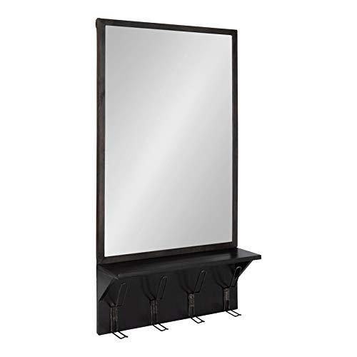 Kate and Laurel Coburn Rustic Wall Mirror Distressed Metal Frame with Wood -