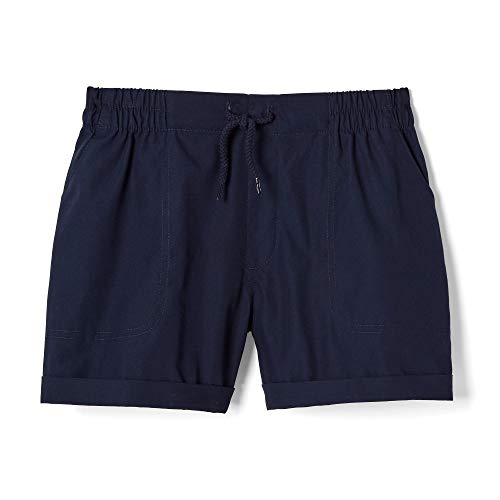 French Toast Girls' Little Pull-On Woven Shorts, Navy, 5 - Navy Blue Kids Shorts