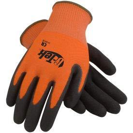 PIP G-Tek CR Hi-Vis Orange Nitrile Grip Gloves W/HPPE/Glass Liner, Black Palm, L, 1 DZ (16-340OR/L) by PIP (Image #1)