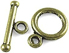 Packet 30x Antique Bronze Metal Alloy Round Toggle Clasps 10x14mm Y11175 Charming Beads