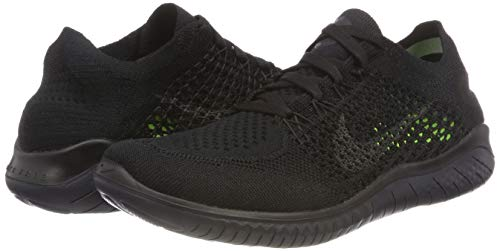 Pictures of NIKE Women's Free Rn Flyknit 2018 Black/Anthracite 4