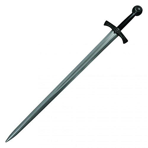 Excalibur Handle - MyPartyShirt Excalibur Grey FOAM Sword With Black Handle