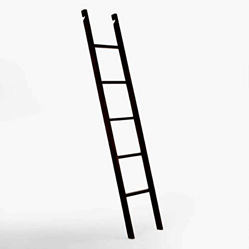 Ladder Library (Sturdy Espresso Augustus Bookshelf Ladder - Rubberwood and Veneer with Espresso Finish - Fits Perfectly to Any Library)