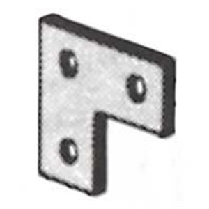 Thomas & Betts AB219 GoldGalv 1/4 Inch Steel 3 Hole Corner Plate Superstrut