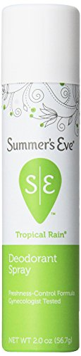 Summer's Eve Freshening Spray for Sensitive Skin - Neutralizes Odor - Absorbs Moisture - Won't Disrupt Natural pH - Talc-Free - Tropical Rain Scent - 2 Ounce (Pack of 6)