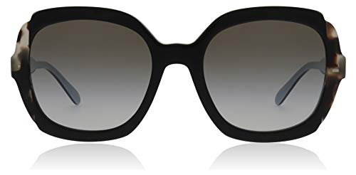 Prada PR 16US - KHR0A7 Sunglasses Black Azure/Spotted Brown w/ Grey Gradient Lens 54mm     ()