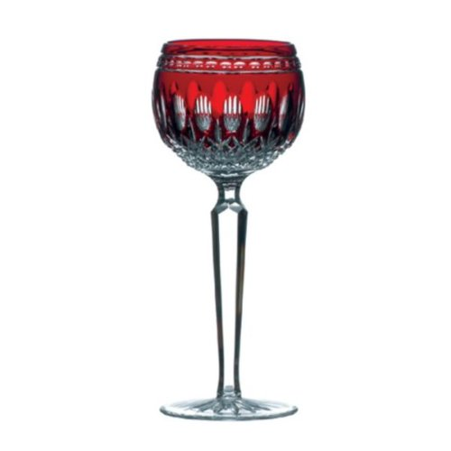(Waterford Clarendon Stemware Ruby Hock Glass Pair)