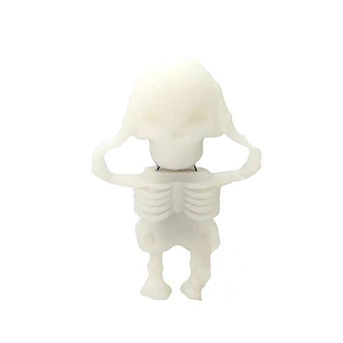 Vicole Novelty Cool Skull Skeleton Shaped 8GB USB 2.0 Flash Drive Pen Drive Flash Disk, 4 Color Available (White, One size)