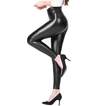 Walk Diary Babyskin Faux Leather Leggings for Women Fleece Lined Leggings Women Winter Leggings High Waisted Leggings