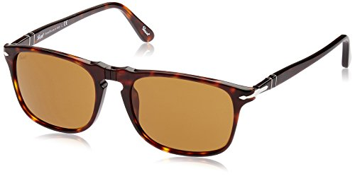 Persol Men's Square Sunglasses, Havana, One - Sunglasses Persol Style