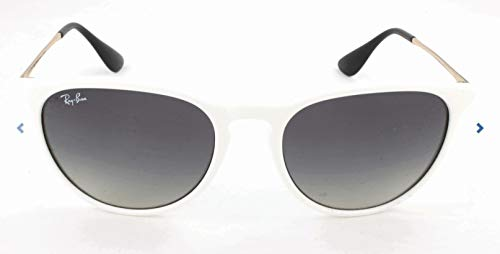 Ray-Ban RB4171 Erika Round Sunglasses, Shiny White Red/Grey Gradient, 54 ()