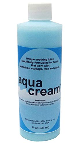 Pros-Aide Aqua Cream Skin Lotion To Protect and Remove Paint and Makeup 8 oz