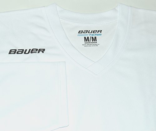 117aa6f7e Bauer 200 Series Practice Jersey - Senior - White, Large - Import It All