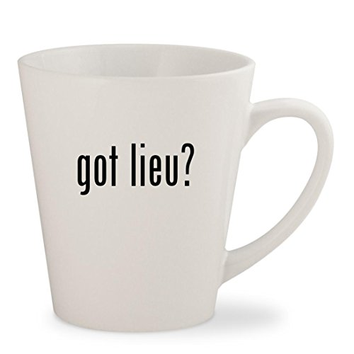 Khien Ceramics (got lieu? - White 12oz Ceramic Latte Mug Cup)