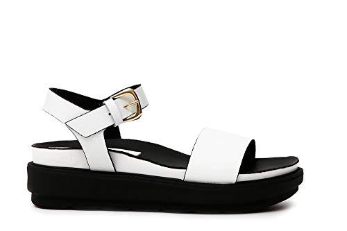 Sandalo In Cafènoir Pelle 203 Kfa109 Bianco F5qqWPEnRv