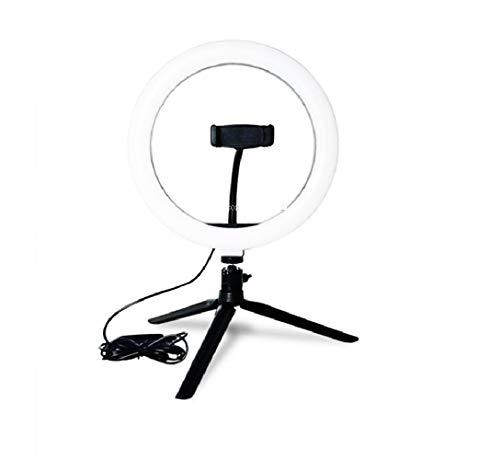 Anel Iluminador LED Flexivel Ring Light Tripe 20cm com Suporte Celular Universal Selfie Youtuber Gravação Fotos Makes