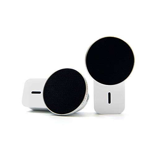 Ampulla MiniS Magnetic Speakers – 360° Sound TWS Portable Bluetooth Speakers with Built-in Magnets Can be Attached to Any Surface, Built-in Mic, Music Anywhere, Anytime.