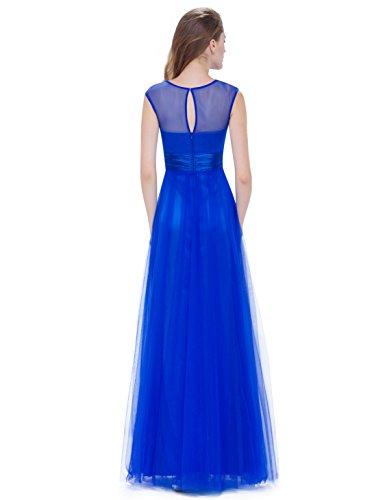 Ever-Pretty - Vestido - para mujer Azul Zafiro