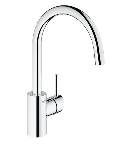 Grohe Single Handle Faucets - Concetto Single-Handle Pull-Down High Arc Kitchen Faucet