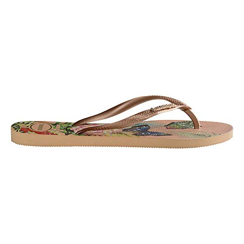 Nude salmon Multicolore 7183 Tropical Femme Tongs Slim Havaianas zqwO6YSO