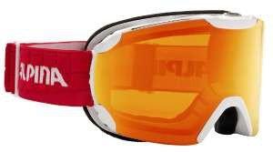 ALPINA masque de ski pour homme - Blanc/vert