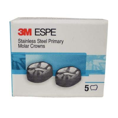 3M DUR5 ESPE Stainless Steel First Primary Molar Crown, Upper Right, 8.4 Size