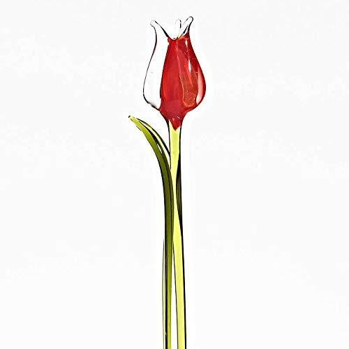 Vidrio, CRISTALICA Estatuilla de Vidrio Flores de Tulipanes 16cm Multicolore ARTGLASS Powered by