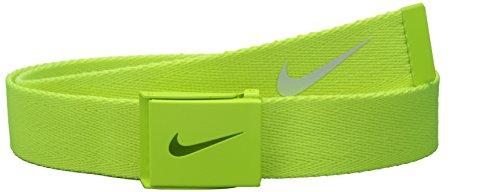 Nike Men's Tech Essential Web Belt, Volt, One Size
