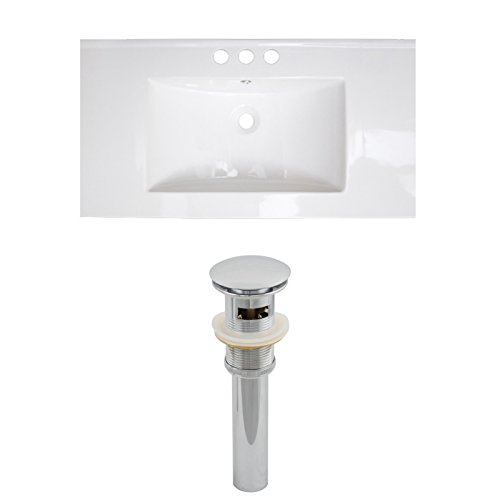 "Jade Bath JB-15527 36"" W x 18"" D Ceramic Top Set and Drain, White well-wreapped"