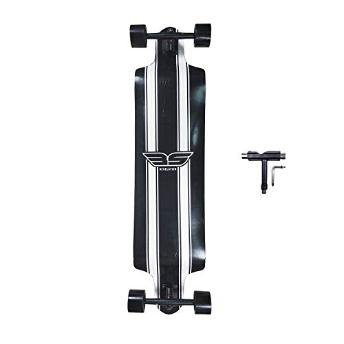 SHINPORT Longboard Skateboard 41 Inch Drop Down Cruising Skateboard Complete for Youth Beginners Downhill Cruising Carving Freeride Freestyle Include T-Tool