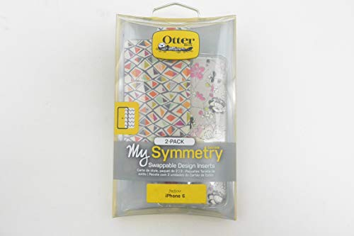 OtterBox SYMMETRY SERIES GRAPHIC INSERT 2PK for iPhone 6/6s (4.7 Version) - Retail Packaging - PINK BLOSSOM / FRACTLE DIAMOND INSERTS