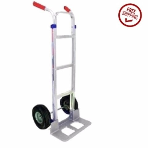 Liberator Hand Truck with Dual Grip Handle 18'' Nose 10'' Pneumatic Tire (USA)
