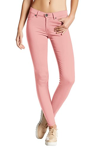 (Womens Super Stretch Comfy Skinny Pants P44876SKX Blush 1X)