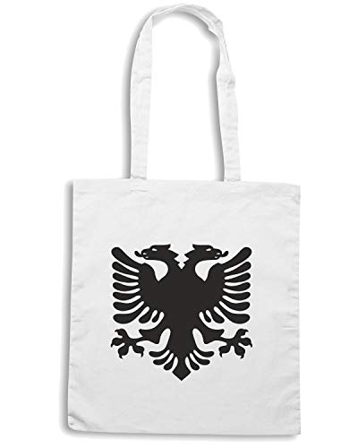 Borsa Shopper Bianca TM0150 ALBANIAN EAGLE FLAG OF ALBANIA FLAG