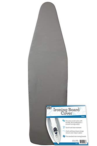 (S&T 598601 Scorch-Resistant Ironing Board Cover - Fits Standard Size Ironing Boards - 15