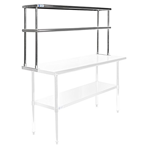 table with shelves. gridmann nsf stainless steel commercial kitchen prep \u0026 work table 2 tier double overshelf - 60 in. x 12 with shelves i
