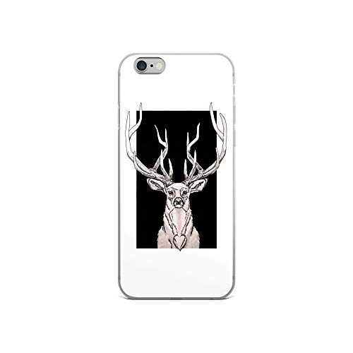 iPhone 6/6s Case Anti-Scratch Creature Animal Transparent Cases Cover King of The Forest Animals Fauna Crystal Clear