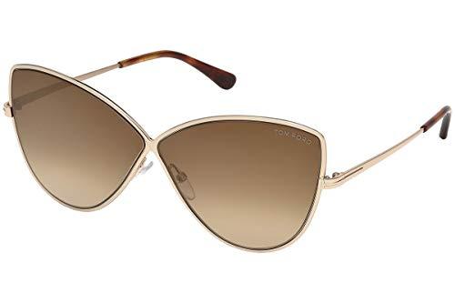 Tom Ford FT0569 28G Shiny Rose Gold Elise Cats Eyes Sunglasses Lens Category ()