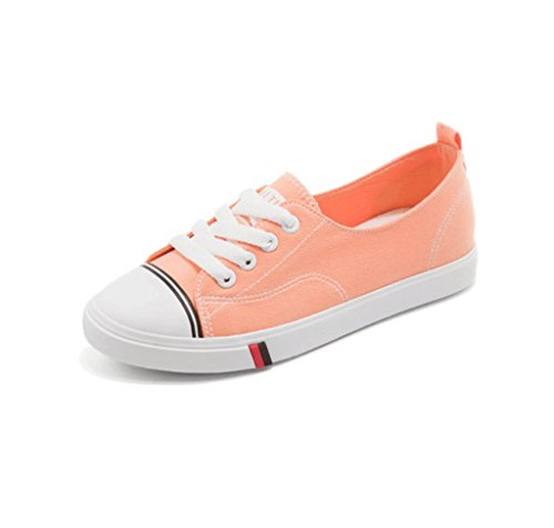 Shallow Mund Schuhe Ms. atmungsaktive Segeltuchschuhe im Freien beiläufige Schuhe Art und Weise flache Schuhe (5 Farben wahlweise freigestellt) ( Farbe : Pink , größe : 36 ) Pink