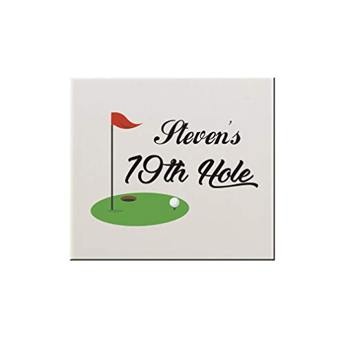 Hole Ceramic 19th - Style In Print Personalized Custom Text Golf 19th Hole Sports Ceramic Accent Mural Tile Backsplash - 4