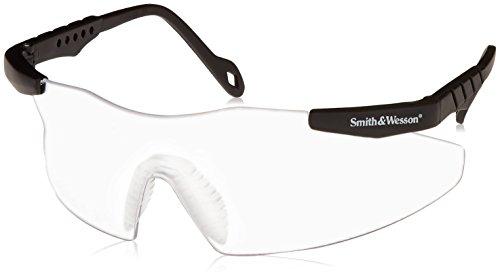 (Jackson 3011672 Smith & Wesson Magnum 3G Safety Glasses, Black Frame, Clear Lens)