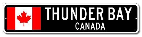 Canada Flag Sign   Thunder Bay  Canada   Canadian Custom Flag Sign   4 X18  Inches