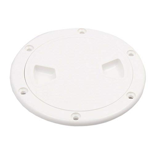 (Boat 8'' Screw Out White Plastic Round Marine Deck Plate Inspection Hatch)