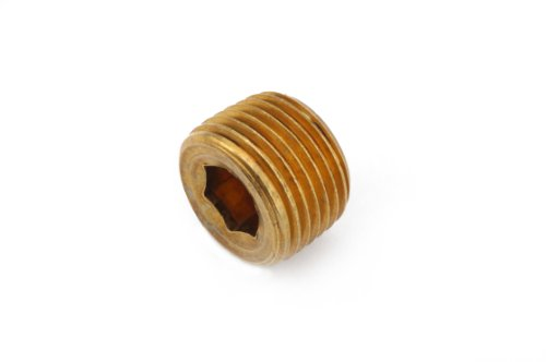 - Anderson Metals 06115 Brass Pipe Fitting, Countersunk Plug Hex Drive, 3/4