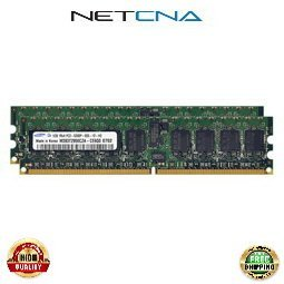 Registered Kit 667 Memory (DELL-2GB-DDR2-667R 2GB (2x1GB) Dell PC2-5300 DDR2-667 240-pin Registered ECC SDRAM DIMM Memory Kit 100% Compatible memory by NETCNA USA)